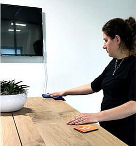 Gezond werken in een schoon kantoor